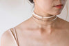 Leather Natural W Choker