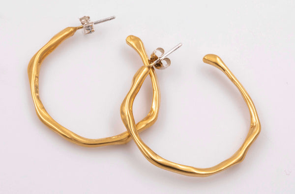 Drops M Hoop Earrings