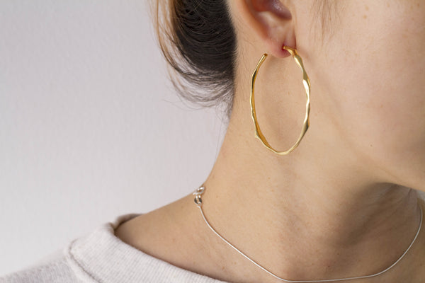 Large Hoop Drops Earrings