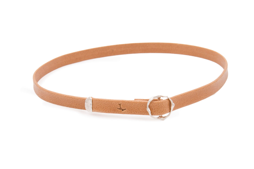 Leather Taupe W Choker