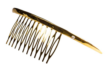 Crescent Comb with Pearl