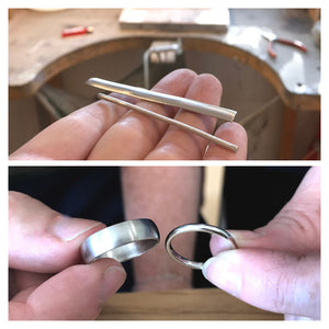 Make your own wedding rings or bands with Sue Lane near Hereford, UK