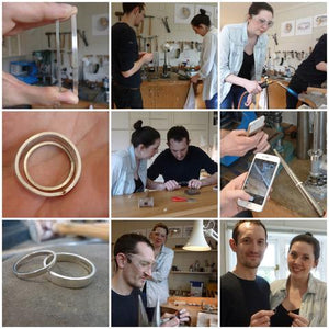 Make your own platinum wedding rings with Sue Lane in Herefordshire