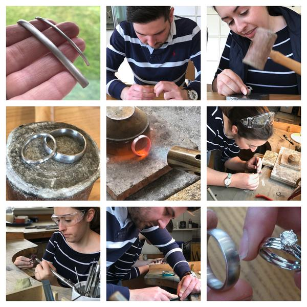 Hannah And James Make Their Own Wedding Rings With Sue Lane