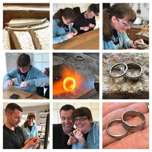 Make your own wedding rings / bands with Sue Lane in Herefordshire