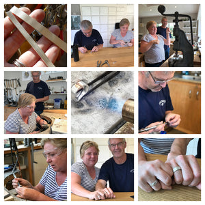 Make your own anniversary rings with Sue Lane near Hereford in Herefordshire.