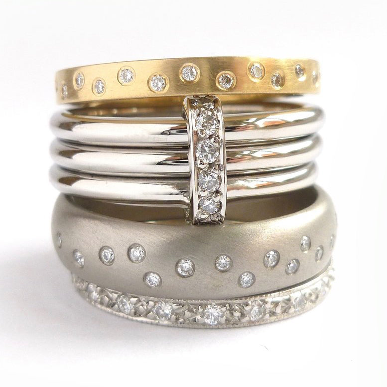 Modern eternity rings. Contemporary, bespoke and handmade.