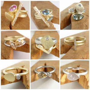 Contemporary bespoke engagement rings