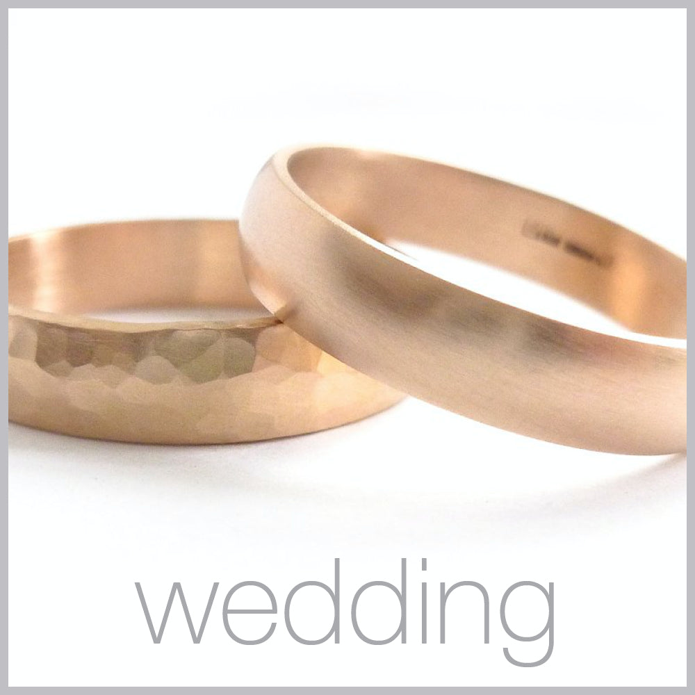 Contemporary jewellery remodelling commissioning wedding rings