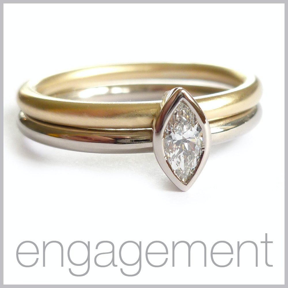 Contemporary jewellery remodelling commissioning engagement rings.