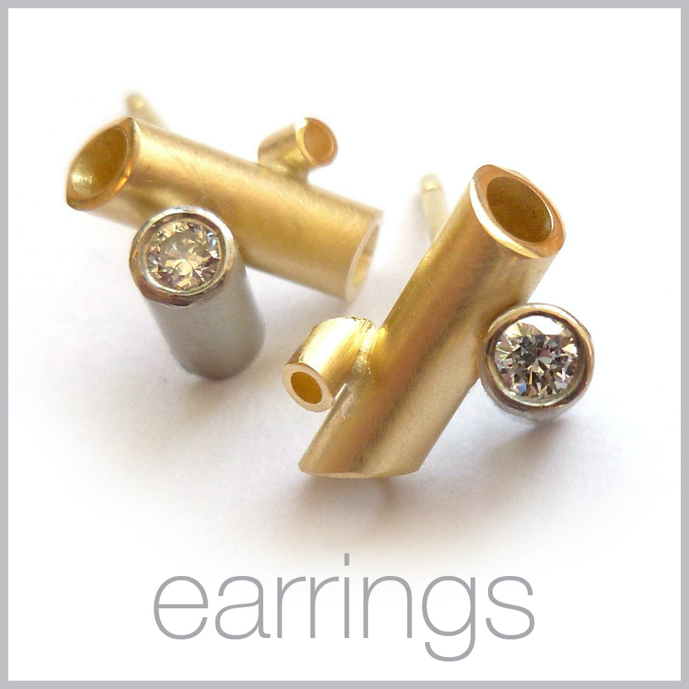 Contemporary jewellery remodelling commissioning earrings