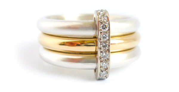 Commissioning wedding and engagement rings with Sue Lane, contemporary jewellery.