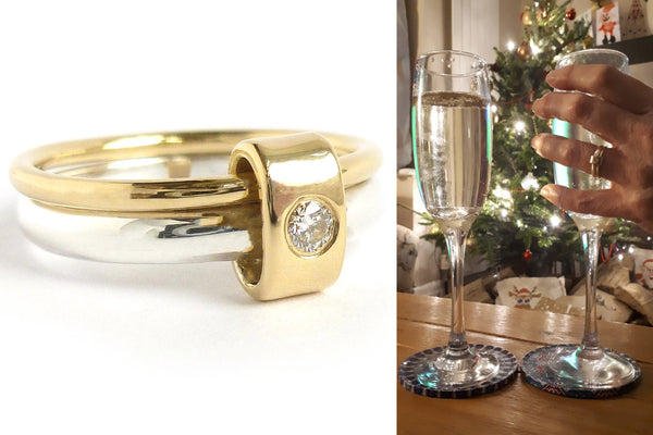 Wedding ring commissioning with Sue Lane in Herefordshire and London