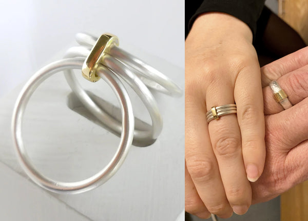 Wedding ring commissioning with Sue Lane in Hereford and London
