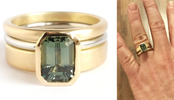 Wedding and engagement ring commissioning - bespoke design with Sue Lane