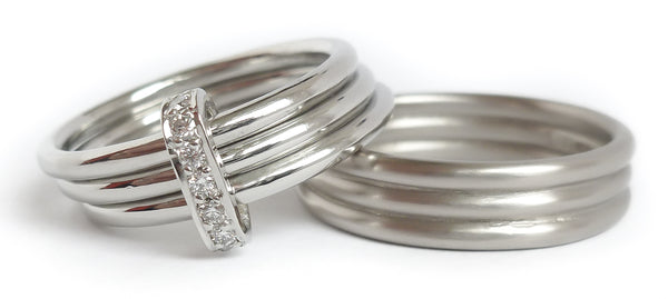 Wedding ring commission by Sue Lane
