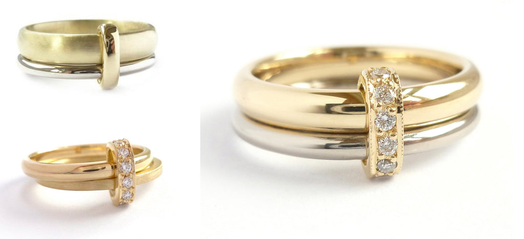 Jewellery commission. Commissioning wedding engagement rings. Handmade, unique, modern and contemporary.