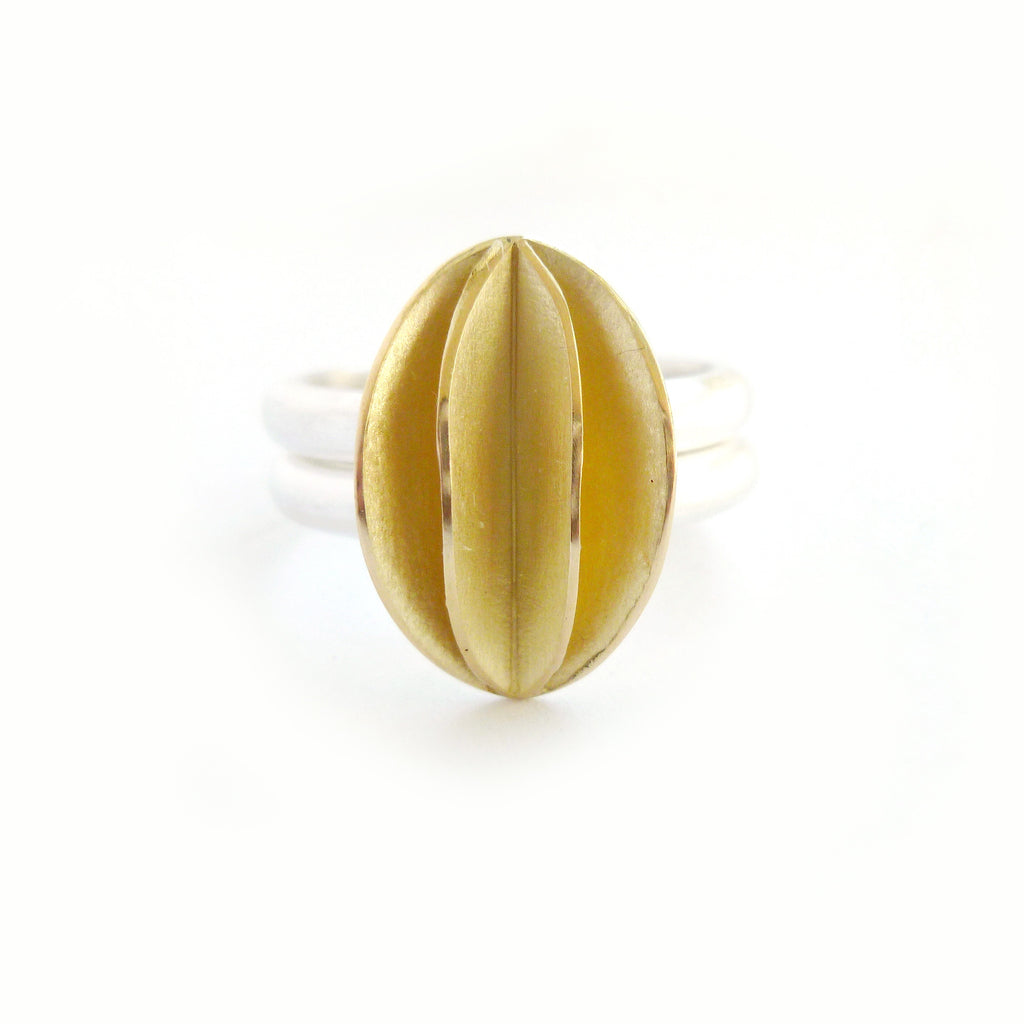 New gold and silver leaf ring