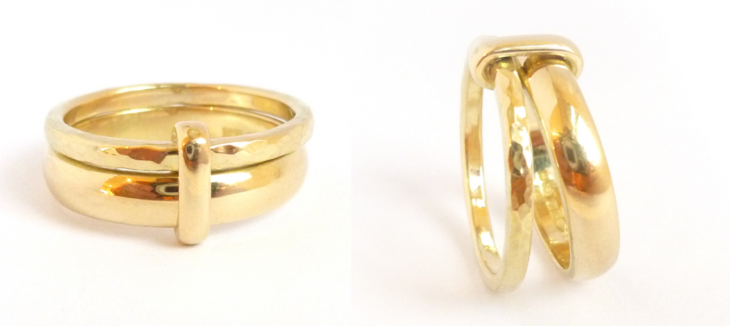 Jewellery commissioning example gold ring - contemporary.