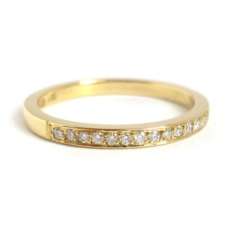 18ct gold and diamond eternity ring, wedding ring, or engagement ring, handmade by Sue Lane.