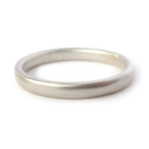 Contemporary wedding ring band for men or women - handmade by Sue Lane in Hereford.