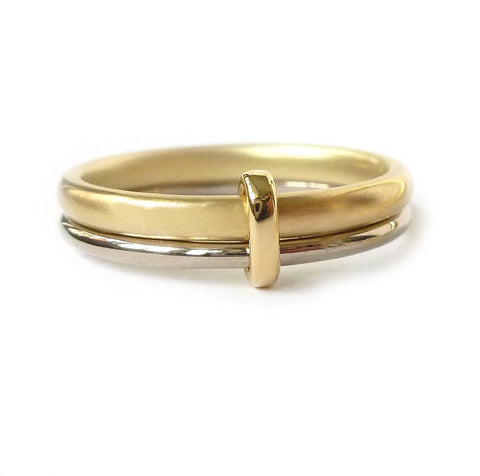 Multi band wedding ring - handmade in Hereford, Herefordshire by Sue Lane contemporary jewellery designer.