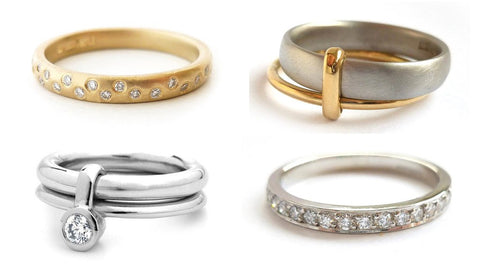 Contemporary eternity ring designs. Modern, unique and bespoke.
