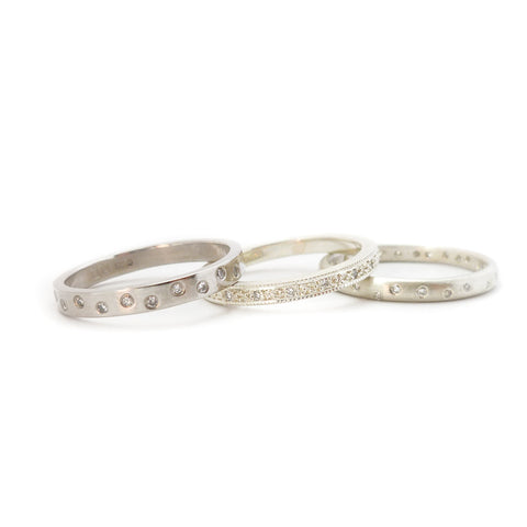 Unique handmade, modern and contemporary eternity rings by Sue Lane, Herefordshire UK. Also to commission.