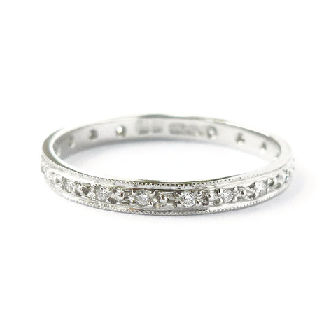 Handmade, unique, modern and contemporary eternity rings by Sue Lane, Herefordshire UK. Also made to commission