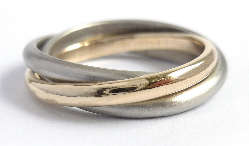Russion style wedding ring commission by Sue Lane, Hereford.