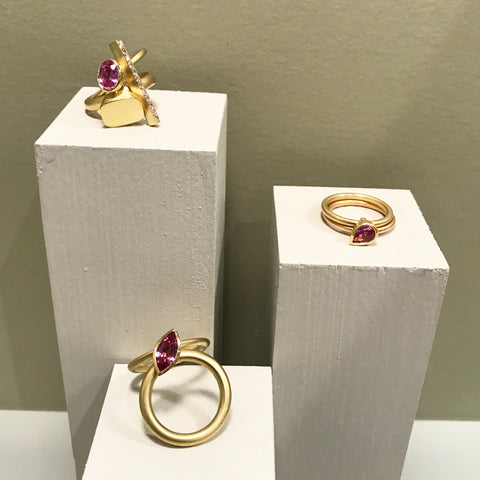 modern two band stacking rings by Sue Lane