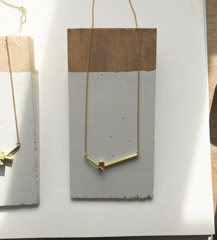 Sue Lane Contemporary Jewellery gold necklace
