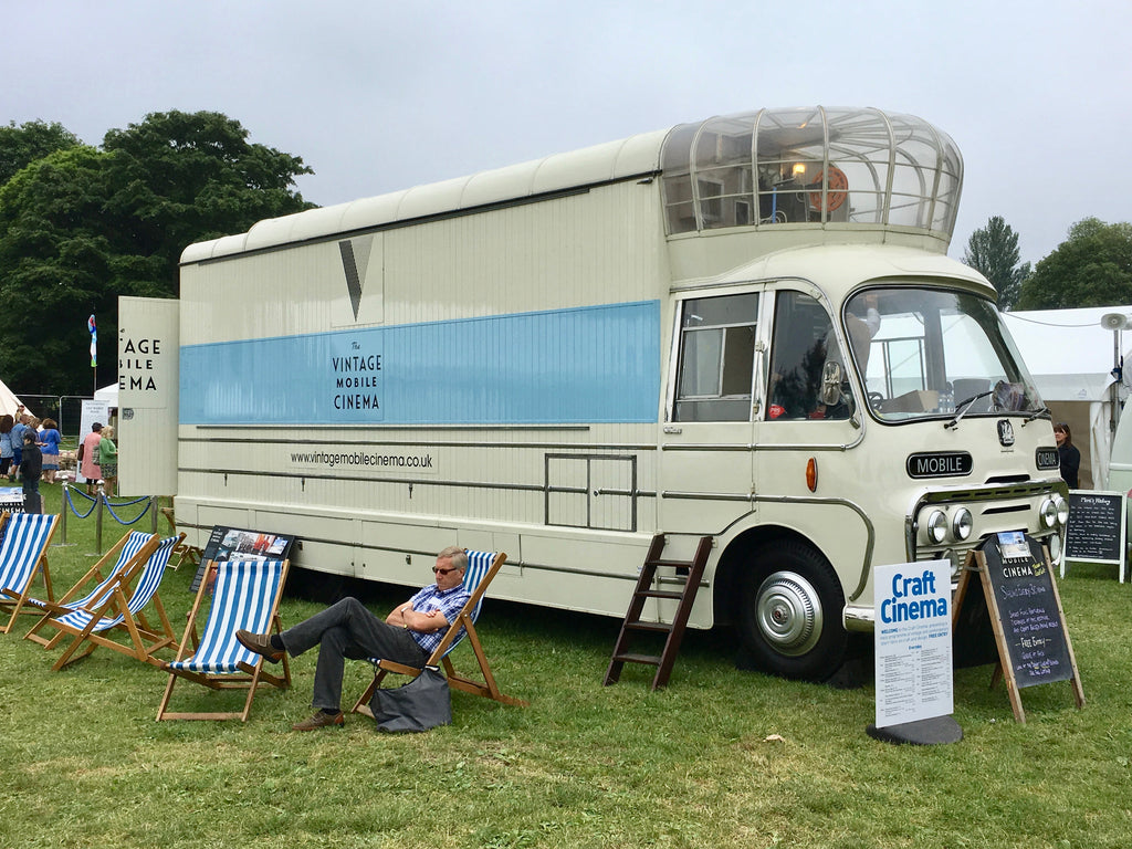 classic mobile cinema bus