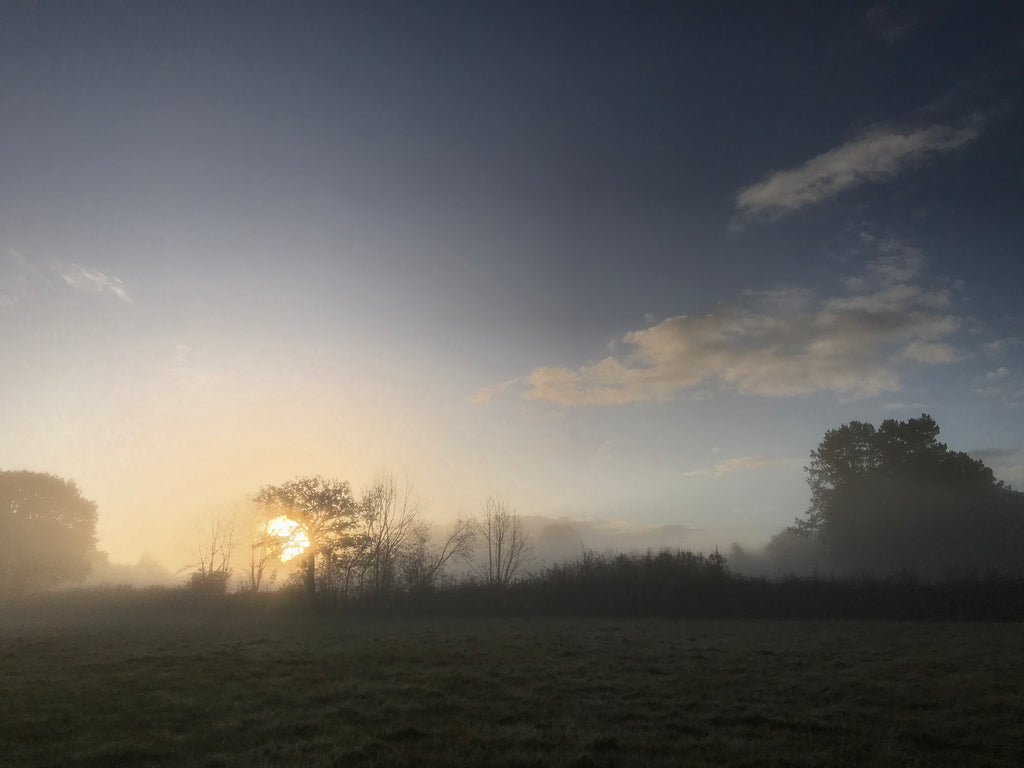 Herefordshire sunrise near Sue Lane contemporary jewellery