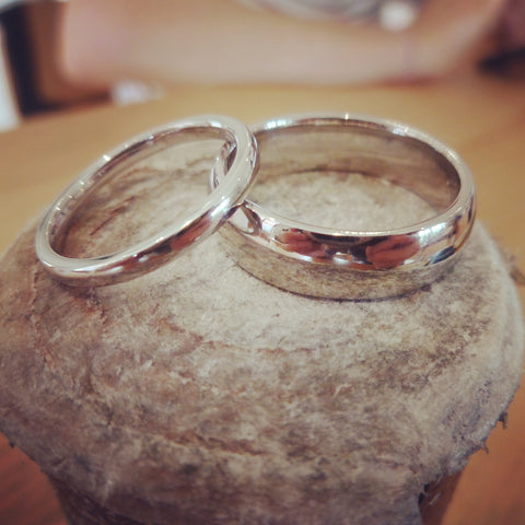 platinum wedding rings made by hand