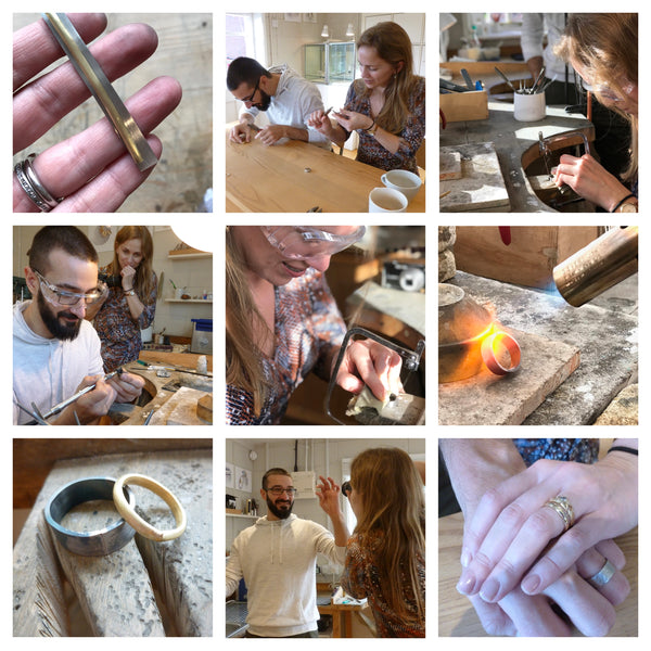Making wedding rings with Sue Lane in Herefordshire