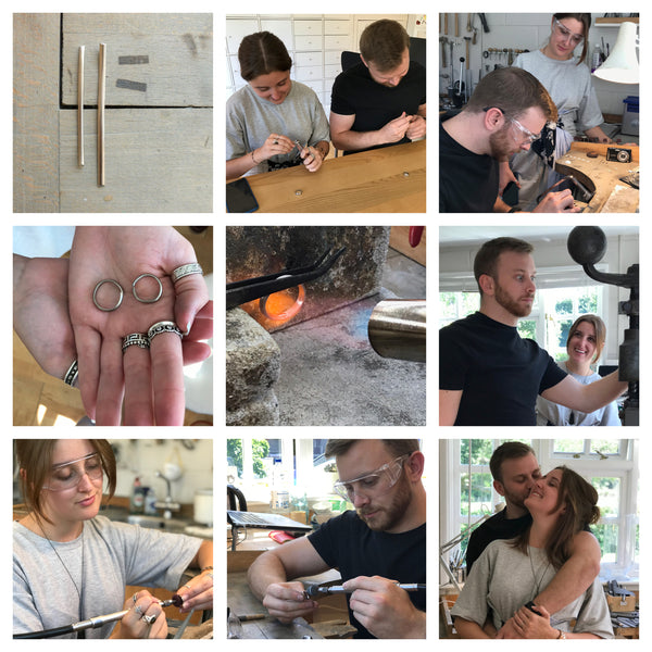 Make your own wedding rings with Sue Lane in Herefordshire
