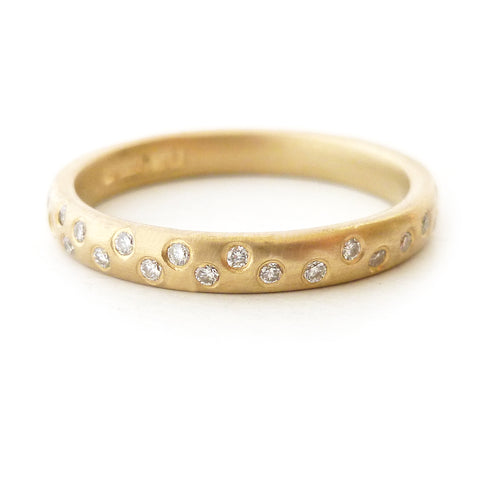 modern, contemporary and unique diamond eternity ring