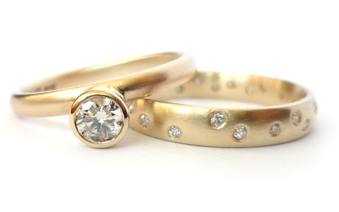 wedding and engagement ring set