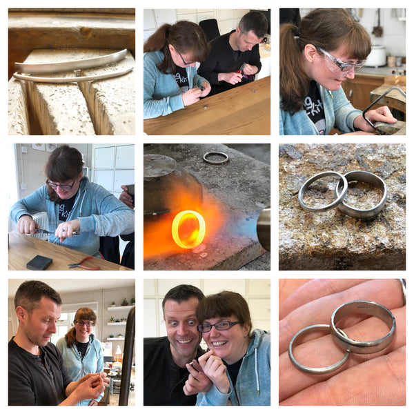 Make your own wedding rings bands with Sue Lane Herefordshire