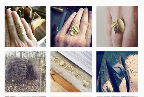 Sue Lane Contemporary Jewellery in Instagram,