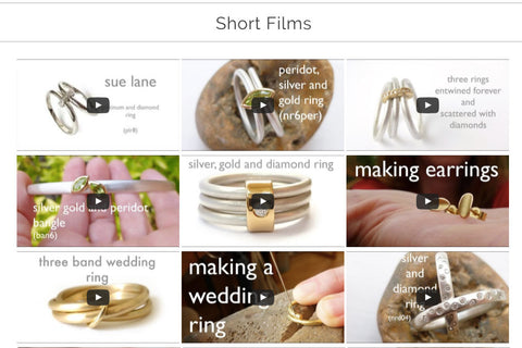 contemporary modern jewellery ring films by Sue Lane