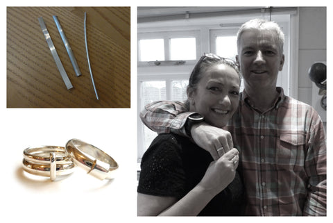 25th wedding anniversary gift, make your own silver rings