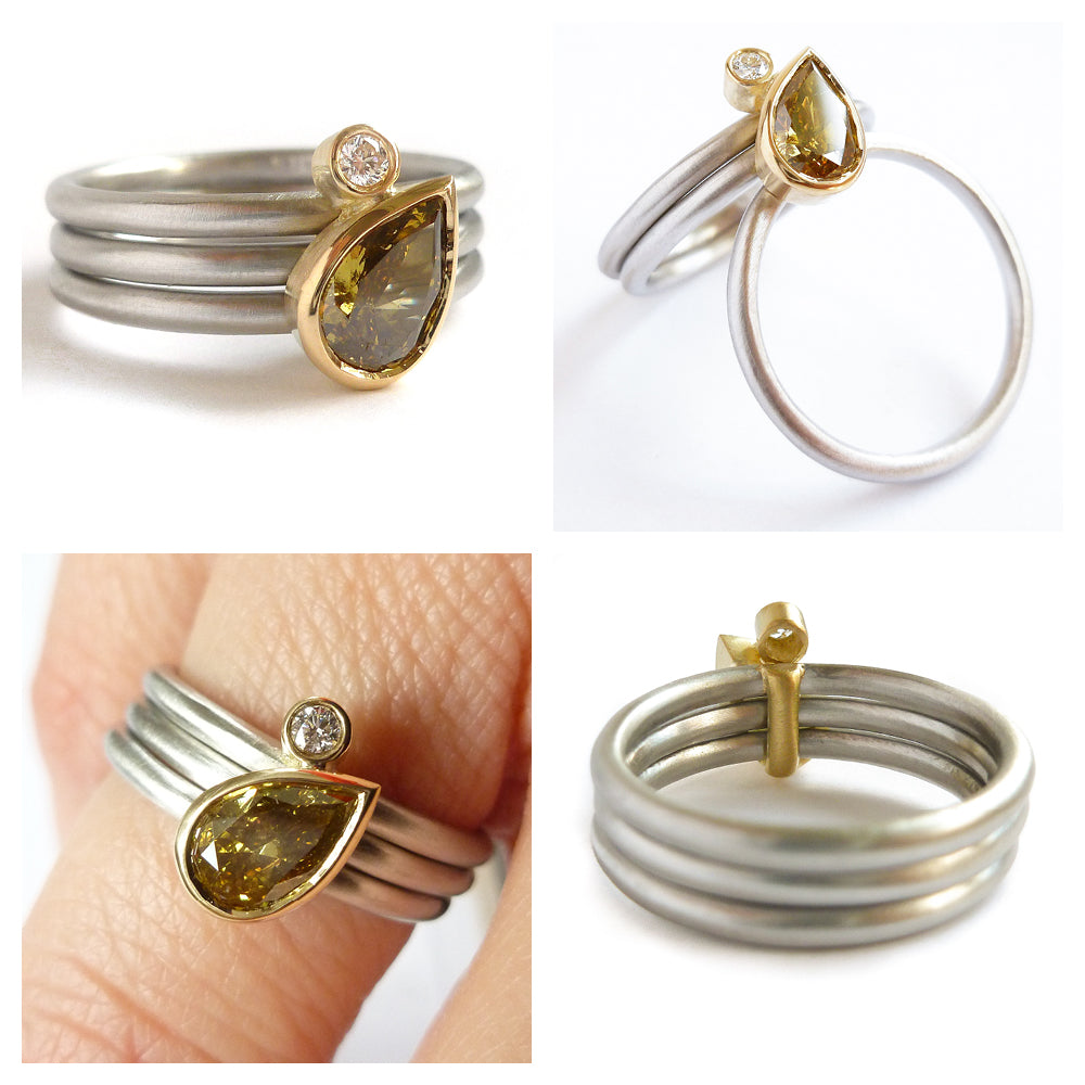 Contemporary Ring Design | New Contemporary Platinum Eternity Or Alternative Modern Wedding
