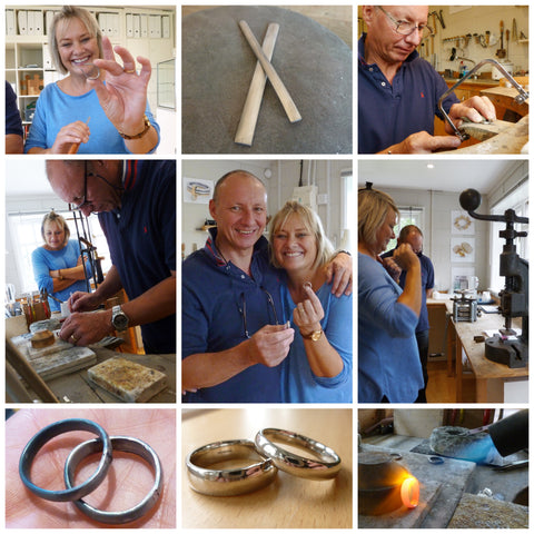 making silver wedding anniversary rings
