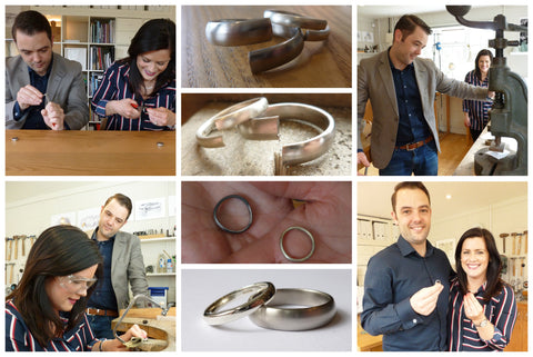 Gareth and Jess Make your own wedding rings
