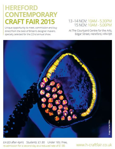 Sue Lane at Hereford contemporary craft fair
