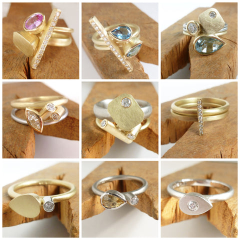 sue lane contemporary ring designs