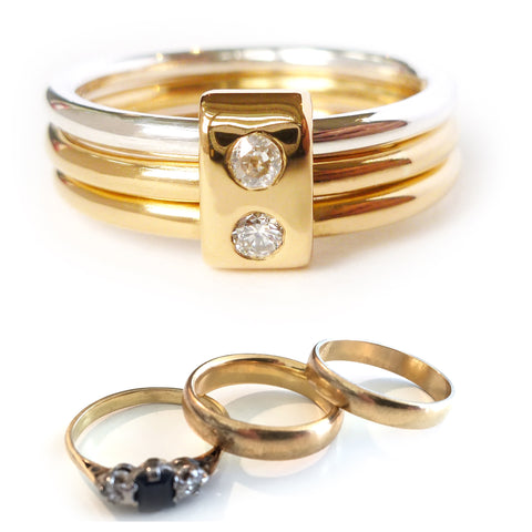 recycled gold wedding rings