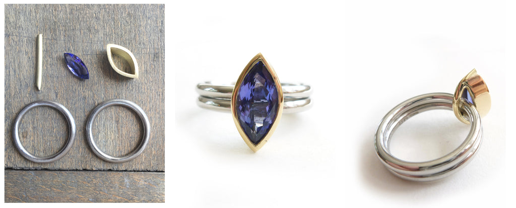 bespoke remodelled tanzanite ring by Sue Lane Jewellery
